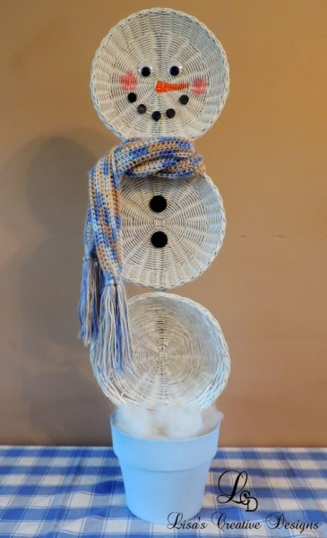 Crafting An Upcycled Basket Snowman