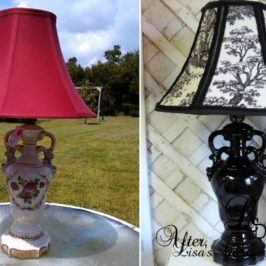 Before and After China Lamp Makeover