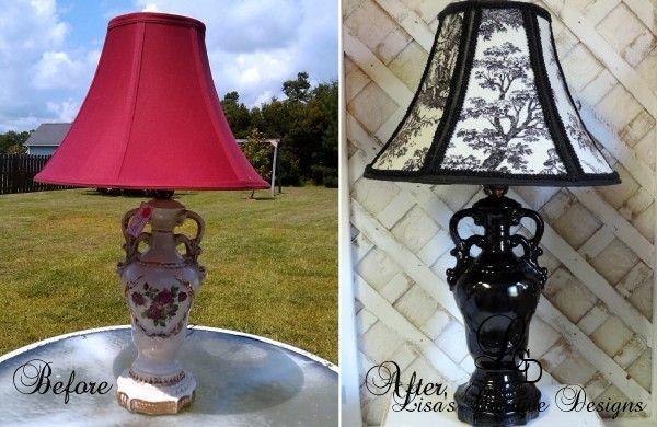 Before and After French Country Lamp Makeover