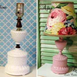 Another Shabby To Chic Vintage Lamp Makeover