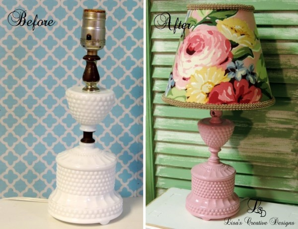 Before and After Vintage Lamp Makeover