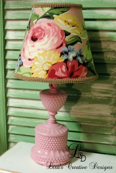 Upcycled Vintage Hobnail Lamp