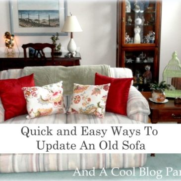 Make Yourself At Home Monday: Quick and Easy Ways To Update An Old Sofa