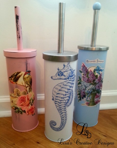 Upcycled Toilet Brush Holders