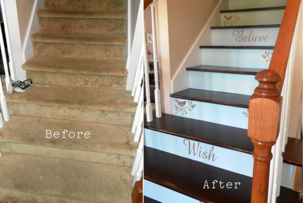 Before and After Staircase Makeover