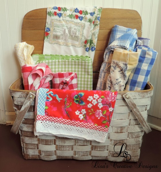 A Vintage Picnic Basket Display
