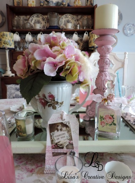 A Shabby Chic Tea Party Centerpiece