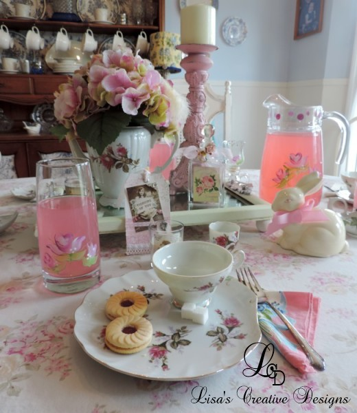 Shabby Chic Rose Inspired Tea Party Tablescape Place Setting