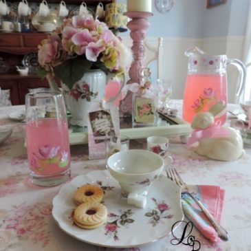 A Shabby Chic Rose Inspired Tea Party Tablescape