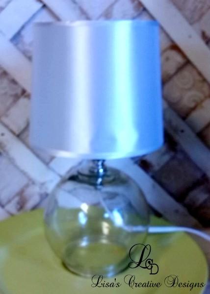 plain glass table lamp