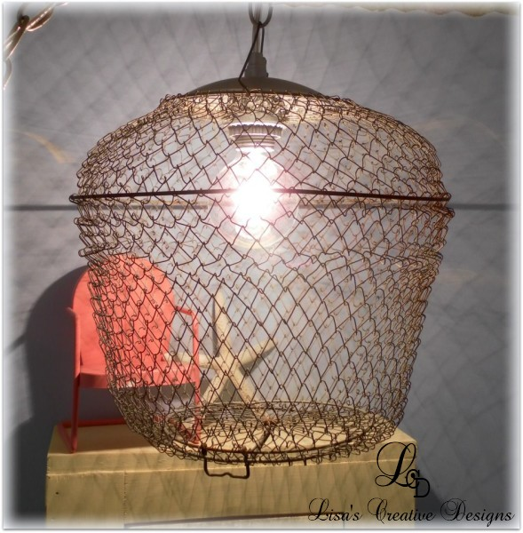 Creative Lighting: An Upcycled Bait Cage Pendant Light
