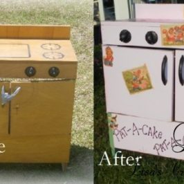 Vintage Toy Stove makeover