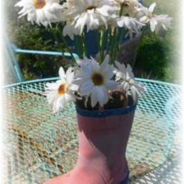 Upcycled Rain Boots Garden Decor