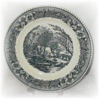 American Fontier Blue Transferware Dinner Plate