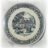 American Fontier Blue Transferware Salad Plate