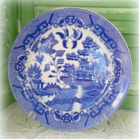 Churchill Blue Willow Transferware Plate