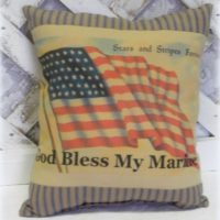 God Bless My Marine Handmade Pillow