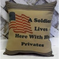 Handmade A Soldier Lives Here With His Privates Throw Pillow