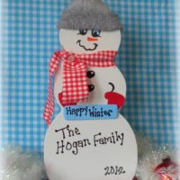 Personalized Country Snowman Christmas Decoration
