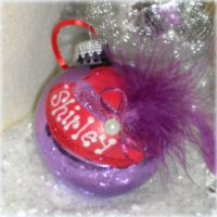 Personalized Red Hat Christmas Tree Ornament
