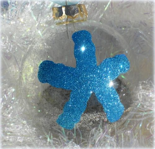 Personalized Starfish Christmas Tree Ornament