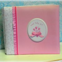 Small Pink Baby Book Album
