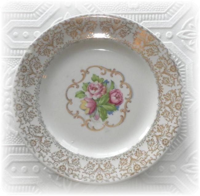 sc 1 st  Lisau0027s Creative Designs & Royal China 22K Gold Park Lane Dalton Rose Cake Plate