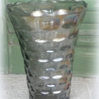 Vintage Colonial Federal Carnival Glass Vase