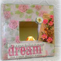 Vintage Inspired Birthday Gift Shabby Decorative Mirror