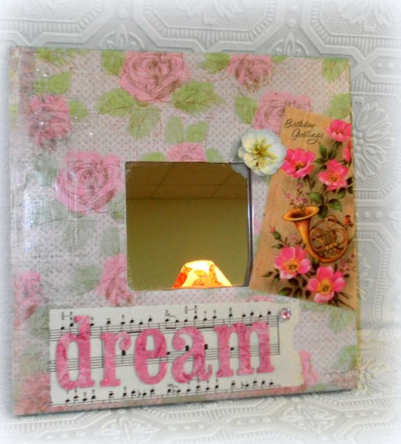 Vintage Inspired Birthday Gift Shabby Decorative Mirror