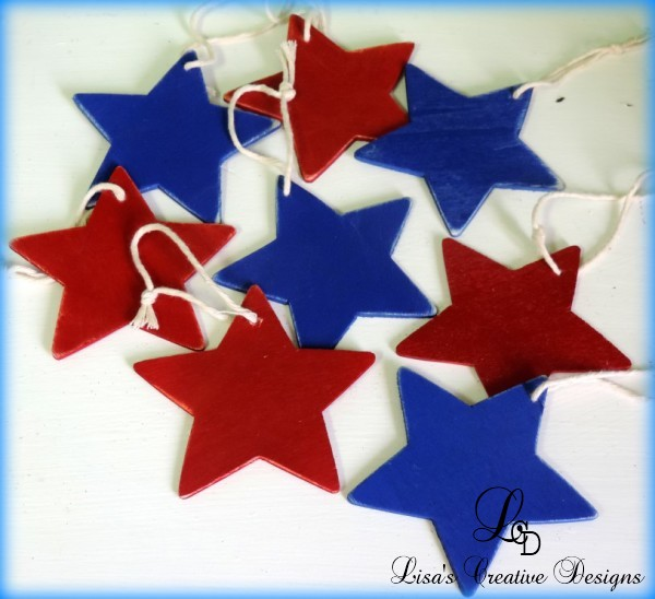 Patriotic Star Christmas Tree Ornaments