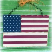 American Flag Prim Decor Wall Accent Patriotic Decor