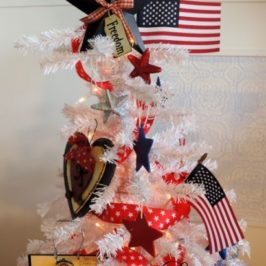 Patriotic Fourth Of July Christmas Tree