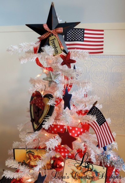 Americana Country Patriotic Christmas Tree
