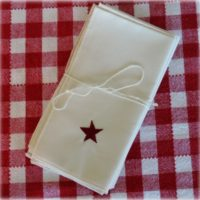 Americana Country Prim Star Fabric Napkins