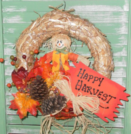 Handmade Country Fall Autumn Wreath
