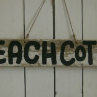 Shabby Beach Cottage Sign