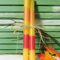 Candy Corn Taper Candles