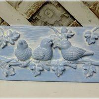 Painted Cottage Blue Bird Decor, Plaque