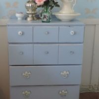 Shabby Blue Chest Of Drawers