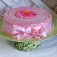 Custom Made Pink Faux cake