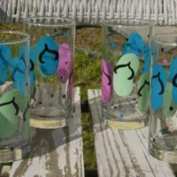 Hand Painted Flip Flop Glasses
