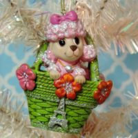Pink French Poodle Christmas Tree Ornament