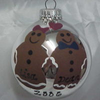 Hand Painted Gingerbread Man Personalized Christmas Ornament