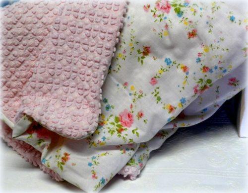 Handmade Vintage Shabby Baby Crib Blanket