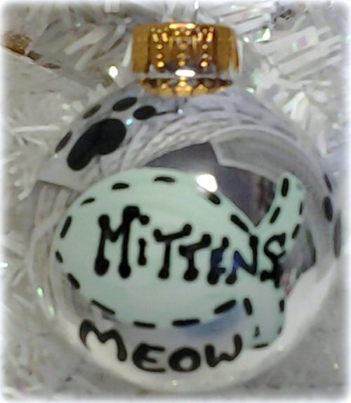 Personalized Kitty Cat Christmas Ornament