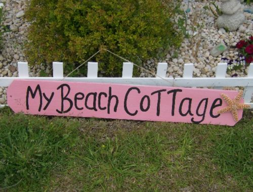 My Beach Cottage Hand Painted Sign