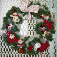 Vintage Kitsch Christmas Wreath