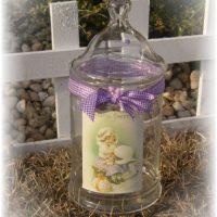 Vintage Inspired Shabby Chic Easter Jar