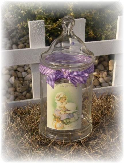 Vintage Inspired Easter Jar